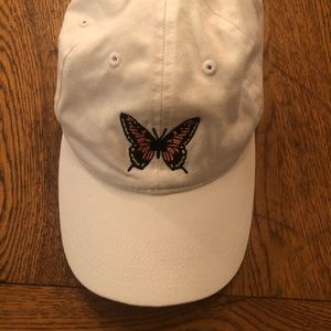 Brandy Melville White Butterfly Hat